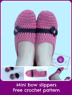 Mini bow slippers  Design by Maz Kwok