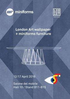 Check the new #LondonArt wallpaper designed by Paolo Cappello designer at #Salonedelmobile! London Art guys have decorated our Stand with this optical wallpaper, enjoy it! #interiordesign #forthehome #miniforms