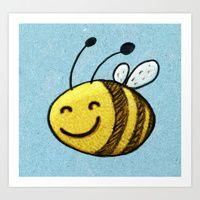 Bee Art Print by macomix Framed Art Prints, Canvas Prints, Bee Art, Victorian Gothic, Creepy, Original Art, Artist, Cute, Crafts