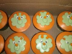 Cupcake dinossauros