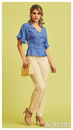 Trouser Outfits, Casual Outfits, Fashion Days, Fashion Outfits, Womens Fashion, Fix Clothing, Plus Size Looks, Elegant Outfit, Madame