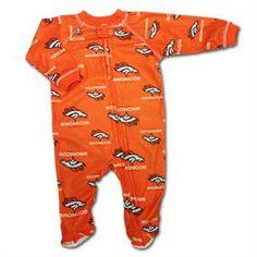 Baby Broncos Logo Covered PJ s  baby  infant  Broncos  Denver Broncos Gear 31dc30261