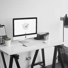 Corner Desk For Your Home Office - Interior Decor and Designing Cozy Home Office, Home Office Desks, Office Decor, Office Ideas, Decorating Office, Office Setup, Workspace Inspiration, Room Inspiration, White Desk Design