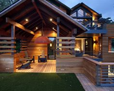 """""""asian"""" color scheme might work for us: cream (or very pale green), natural wood, black, pops of red; Asian Porch Design, Pictures, Remodel, Decor and Ideas - page 5"""