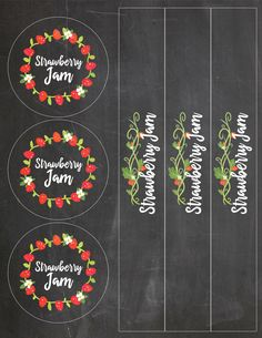Easy Strawberry Jam Recipe with Free Printable Vinyl Labels Canning Labels Free, Jam Jar Labels, Jam Label, Strawberry Jam Recipe, Strawberry Patch, Jelly Recipes, Jam Recipes, Vinyl Labels, Making Ideas