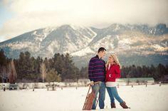 snow/mountain engagement