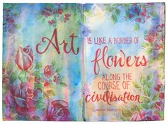 More art journaling! This layout started out with a pale watercolour effect, which I suspect (though don't remember) is actually bleed through from spray inks I'd used on either side. I…