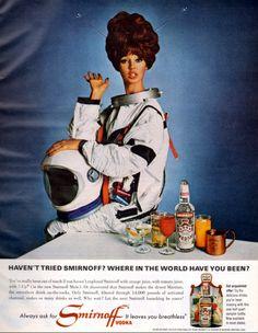 Ads Of Yesteryear — diabolikdiabolik: Smirnoff via. Retro Ads, Vintage Advertisements, Vintage Ads, Vintage Posters, Vintage Space, Ariana Grande, Mad Men, Victorious, Broadway