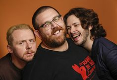 Simon Pegg, Nick Frost, Edgar Wright I LOVE THESE GUYS