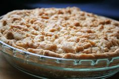 This is a delicious Apple Cream Pie, unlike I have ever tasted before. Tired of the same old Apple Pie? This one is for you! Hope you enjoy!