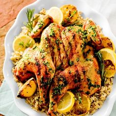 Can't wait to try this! Butterflied Herb & Lemon Grilled Chicken