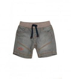 Boys fashion denim shorts with stripes and cutline detail. Includes a ribbed drawcord waistband for comfort. Denim Fashion, Boy Fashion, Fashion Outfits, Boy Clothing, Boy Outfits, Denim Shorts, Kids Shop, African, Stripes