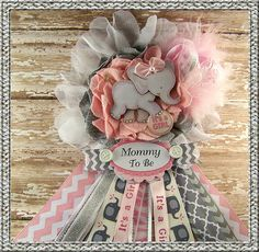 Hey, I found this really awesome Etsy listing at https://www.etsy.com/listing/200838157/pink-elephant-mom-to-be-corsage-pink-and