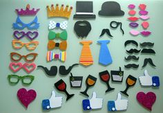 Atrezzo para photocall (50 accesorios) de Manualidades creativas vintage por DaWanda.com