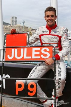 Happy Jules Bianchi after race - 2014 Monaco GP