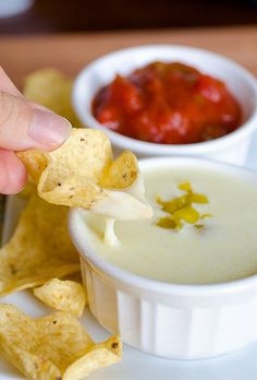 Queso Blanco Dip (White Cheese Dip) this is some of the best homemade cheese dips I've ever made