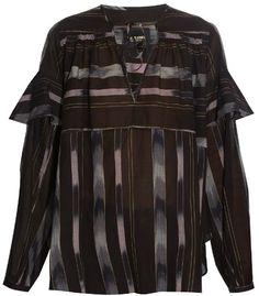 RACHEL COMEY Willow striped cotton-voile blouse