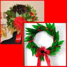 corona d'alloro di carta crespa Laura Lee, Book Page Art, Christmas Wreaths, Graduation, Holiday Decor, Frame, Crafts, Diy, Home Decor