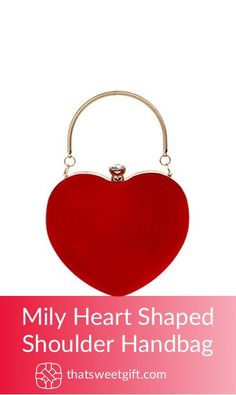 Mily Heart Shaped Shoulder Handbag Shoulder Handbags, Tote Handbags, Evening Bags, Clutch Bag, Heart Shapes, Purses And Bags, Best Gifts, Gift Ideas, Amazon