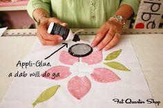 lots of appliqué tutorials by Jillily Studo on Fat Quarter Shop