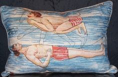 Swimmers I Pillow