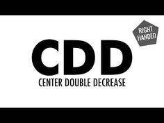 Center Double Decrease (CDD) :: Knitting :: New Stitch a Day