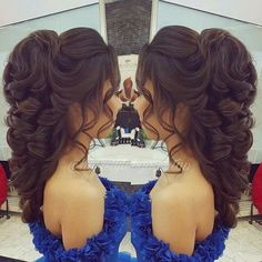 Quince Hairstyles, Evening Hairstyles, Fancy Hairstyles, Bride Hairstyles, Pagent Hair, Prom Hair, Wedding Hair And Makeup, Bridal Hair, Girl Hair Dos
