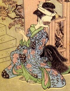 Ohaguro-bettari youkai.