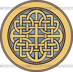 Medieval Celtic ornamental knot - vector clipart