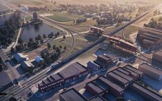 Train Pavilion Aerial