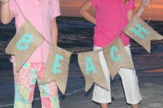 I love this color making a party banner