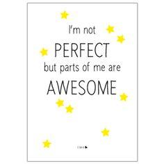 Ansichtkaart 'Awesome'  Gedrukt op een luxe papiersoort. Echt een cadeautje voor jezelf, om op te sturen of om in te lijsten!