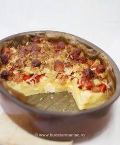 bucatar maniac: Mamaliga cu carnati la gratar Romanian Food, Mozzarella, My Recipes, Quiche, Vegetarian, Hygge, Breakfast, Healthy, Meals
