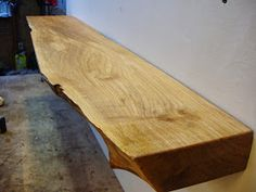 driftedge woodworking: Live Edge Maple Mantle. 65.00, shipping not included.