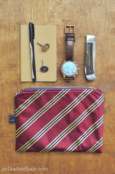 Another project I absolutely love from @polkadotchair: DIY Necktie Zip Pouch. We recently inherited a stash of old ties of varying (circus-worthy) widths and now I'll know what to do with them! #thesewingparty #repurpose #diy #maderemade #menswear