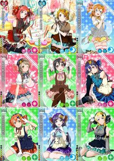 Candy card set| Love Live! School Idol Project