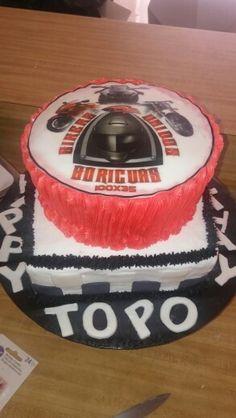 Birthday moto cake