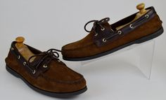 Sperry Top-Sider Men's Boat Shoes Size 13 M Brown Nubuck Suede Leather Loafers #SperryTopSider #BoatShoes