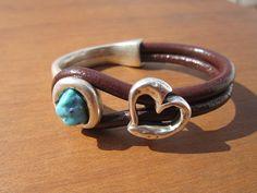 women brown leather bracelet sterling silver plated half por kekugi