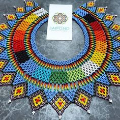 Beaded Collar, Collar Necklace, Beaded Necklace, Images, Rainbow, Beads, Inspiration, Accessories, Beautiful