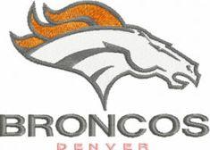 Bronco football logo machine embroidery design $5 embroideres.com