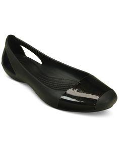 Crocs Women's Sienna Shiny Flats