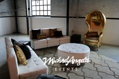MichaelAngelos Event's modular collection and golden dome chair make you feel like you are living the life of luxury!
