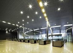 Metal Ceilings - Lay-In from Hunter Douglas Architectural Hunter Douglas, Metal Ceiling, Lighting Design, Architecture, Ceilings, Light Design, International Airport, El Dorado, Projects