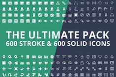 Check out 600x2 Vector Icons, Ultimate Pack by Pixel Bazaar on Creative Market