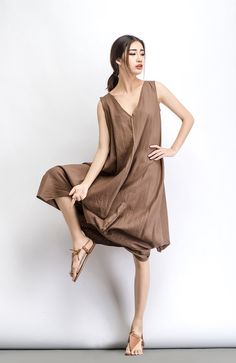 Hey, I found this really awesome Etsy listing at https://www.etsy.com/listing/232818694/linen-dress-brown-maxi-women-dress-c488