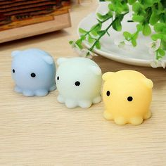 Beautiful Kawaii Mini Bunny Bag Accessories Squeeze Stretchy Cute Pendant Bread Cake Kids Toy Gift 1 Pcs Octopus Slow Rising Jade White Bag Parts & Accessories