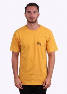 Stussy Basic Logo Tee - Mustard