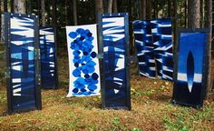 Lovely indigo dyed work by Fumiko Sato. Wonderful photos on her website!