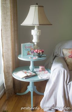 old tiered table makeover, painted furniture Repurposed Furniture, Painted Furniture, Vintage Furniture, Furniture Makeover, Home Furniture, Furniture Update, Furniture Projects, Redo End Tables, Refurbished Table